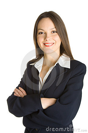 Free Young Smiling Woman In A Business Suit Royalty Free Stock Image - 7794016