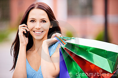 Young smiling woman to purchases