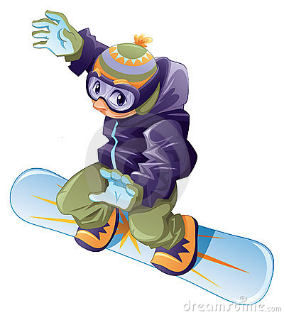Young snowboarder.