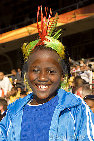 Young Soccer Supporter - FIFA WC Editorial Image