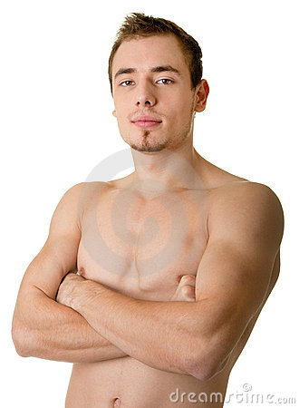 Free Young Sportsman With A Bare Torso Stock Photography - 12120482