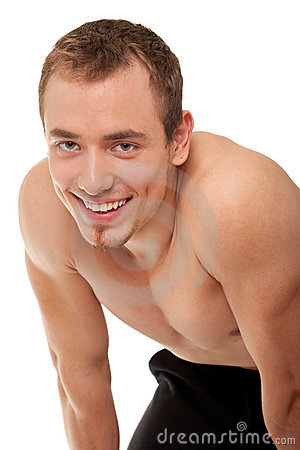 Free Young Sportsman With A Bare Torso Stock Photo - 12128750