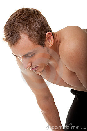 Free Young Sportsman With A Bare Torso Stock Photography - 12410132