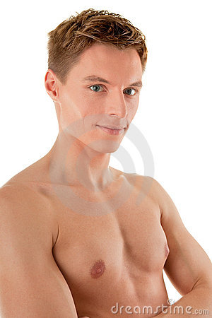 Free Young Sportsman With A Bare Torso Stock Images - 12563254