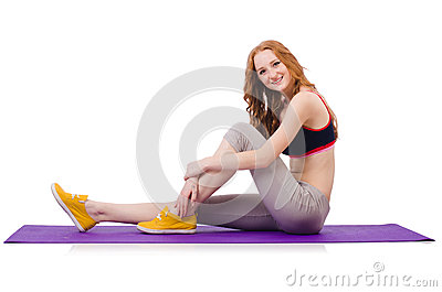 Young sporty woman