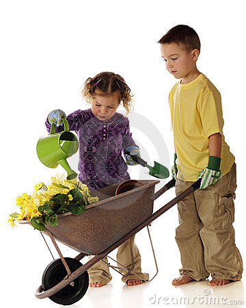 Free Young Spring Gardeners Stock Photo - 18913410