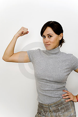 Young strong woman