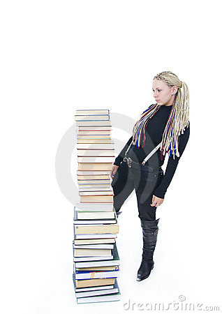 The young student with the books