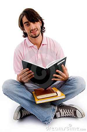 Young student busy in studying