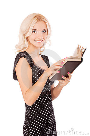 Young student with textbook