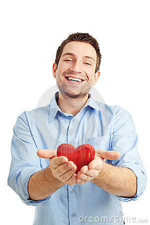 Free Young Student With Heart Stock Photography - 12546272