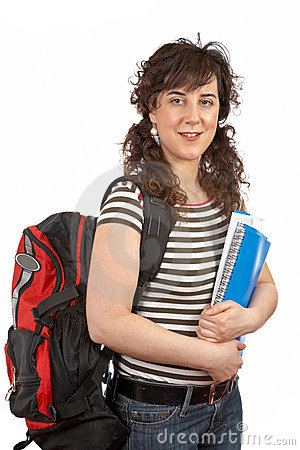 Young Student Woman With Backp Stock Image - Image: 2231561