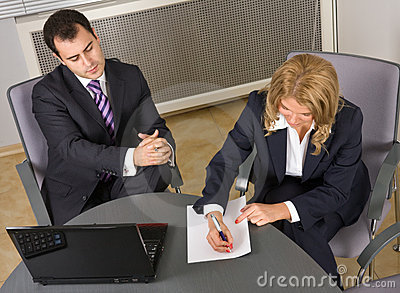 Young Successful businessteam at a meeting