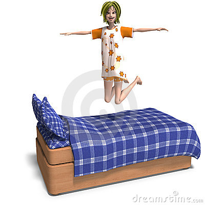 Free Young Sweet Cartoon Girl Invites To A Slumber Stock Images - 10953934