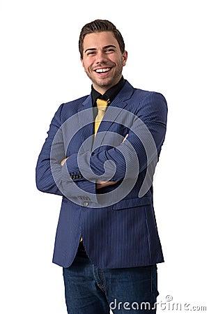 A young sympathetic businessman