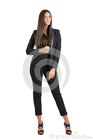 Free Young Tanned Business Woman Posing And Smiling Looking At Camera Royalty Free Stock Photo - 58972185