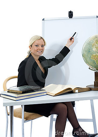 Young teacher will teach geography