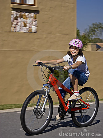 Young Teen On Bicycle
