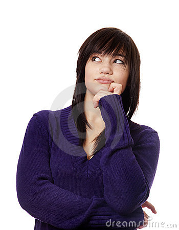 Young Teen Girl Thinking About Something Stock Images - Image: 22114194