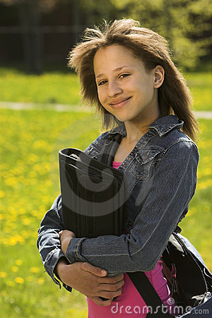 Young teen school-girl
