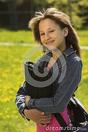 Young teen school-girl