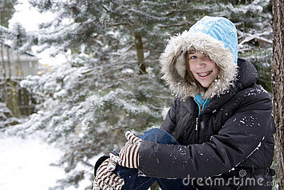 Young Teen in the Snow