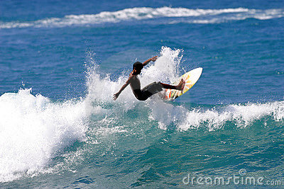 Young Teen Surfing