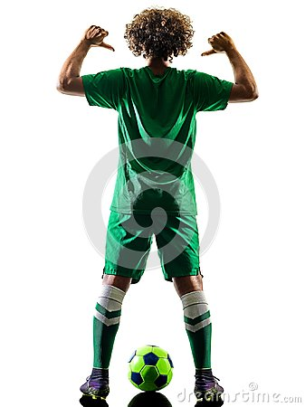 Free Young Teenager Soccer Player Man Silhouette Isolated Royalty Free Stock Images - 116811499