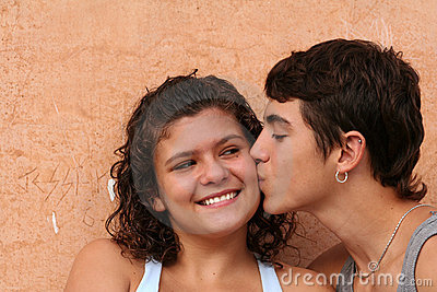 young teens couple