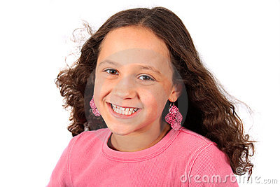 Young ten year old girl