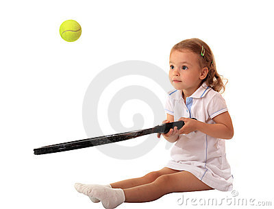 Young tennis player.
