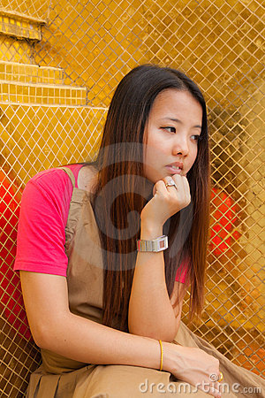 Free Young Thai Women Distracted Stock Photo - 19278410