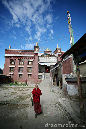 Young tibetan lama Editorial Stock Image