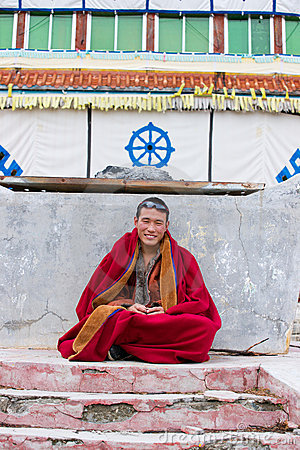 Young tibetan monk Editorial Image