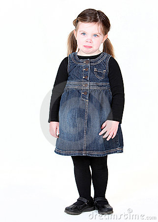 Free Young Toddler Girl With Pout Royalty Free Stock Photos - 20803168