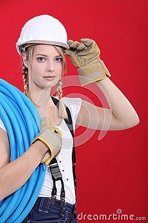 Young tradeswoman