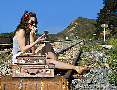 Young traveling woman