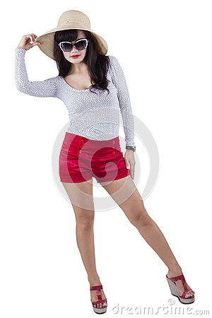 Young trendy attractive woman 1