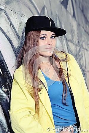 Young Urban Serious Looking Teenage Woman