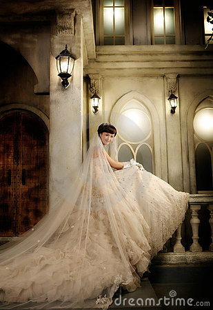 Young wedding woman portrait