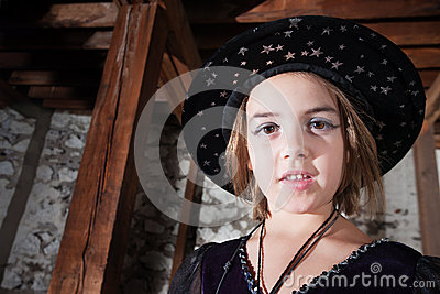 Young Witch in Hat