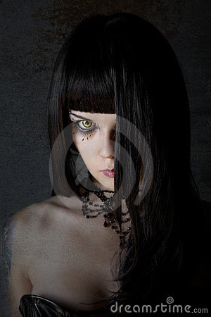 Free Young Witch With Yellow Eyes Royalty Free Stock Photo - 21504545