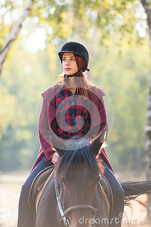 Free Young Woman And Horse Stock Photo - 60990460