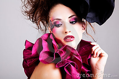 Young Woman in Avant Garde Attire