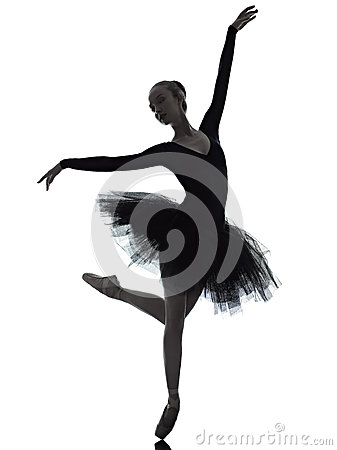 Free Young Woman Ballerina Ballet Dancer Dancing Royalty Free Stock Photos - 26887818