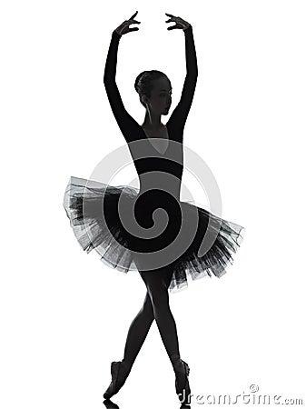 Young woman ballerina ballet dancer dancing