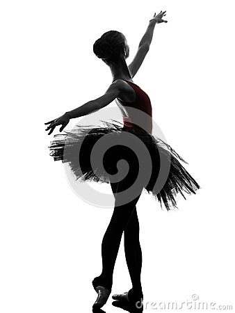 Free Young Woman Ballerina Ballet Dancer Dancing Silhouette Royalty Free Stock Photography - 36972237
