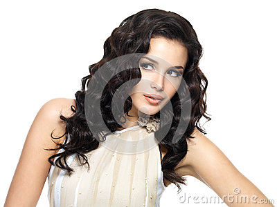 Young woman with beauty long hair.