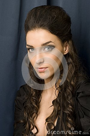 Young woman with blue eyes