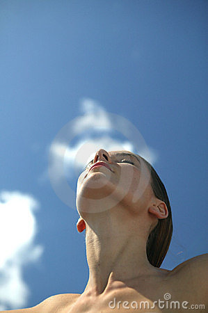 Free Young Woman Breathing Royalty Free Stock Image - 8864466